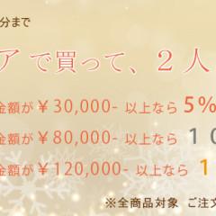 2本同時に購入するとお得な、この期間だけのキャンペーン開催中です。