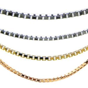 ネックレスチェーンの素材はプラチナ850・K18ホワイトゴールド・K18イエローゴールド・K18ピンクゴールドをご用意しています。