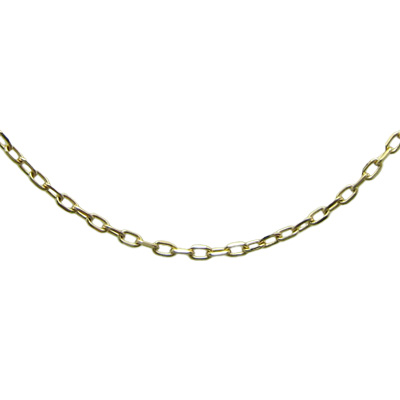 K18イエローゴールド アズキ「小豆」チェーン 1.1mm