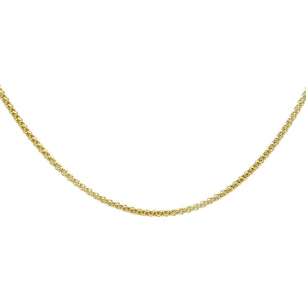 K18イエローゴールド カットポンパチェーン 1.3mm